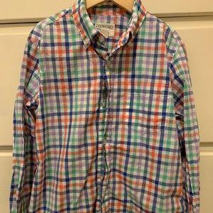 J. Crew Crewcuts gingham button down shirt